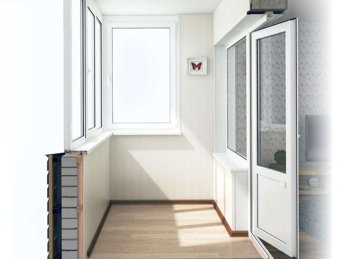 Остекление балкона пластиковыми окнами в доме серии п-3 и п-.