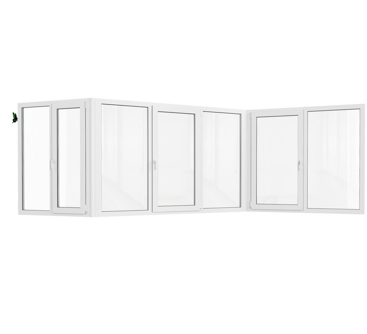 Остекление балкона пластиковыми окнами в доме серии п-3. цен.