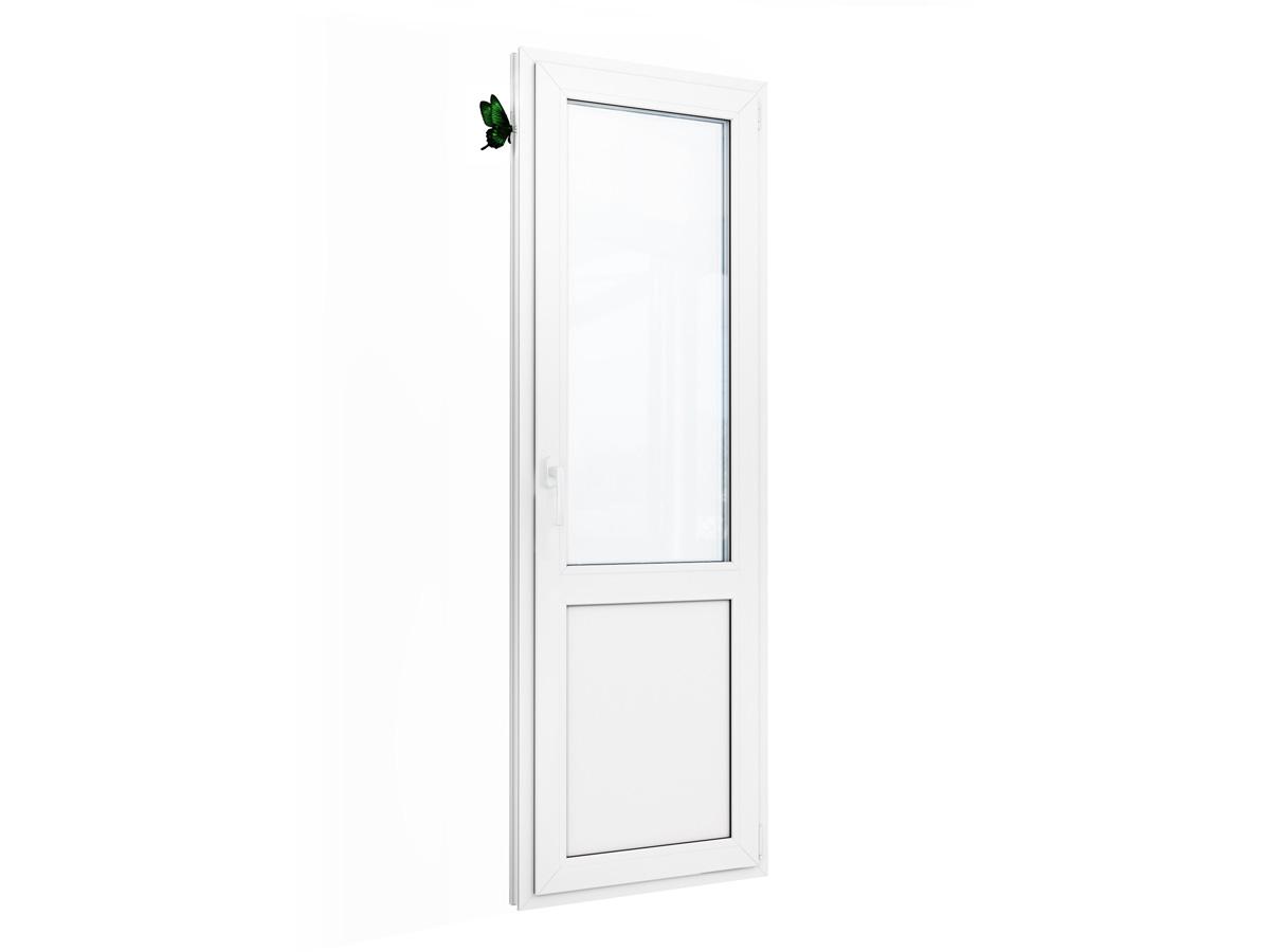 Пластиковая балконная дверь для квартиры, размер: 2180-700.