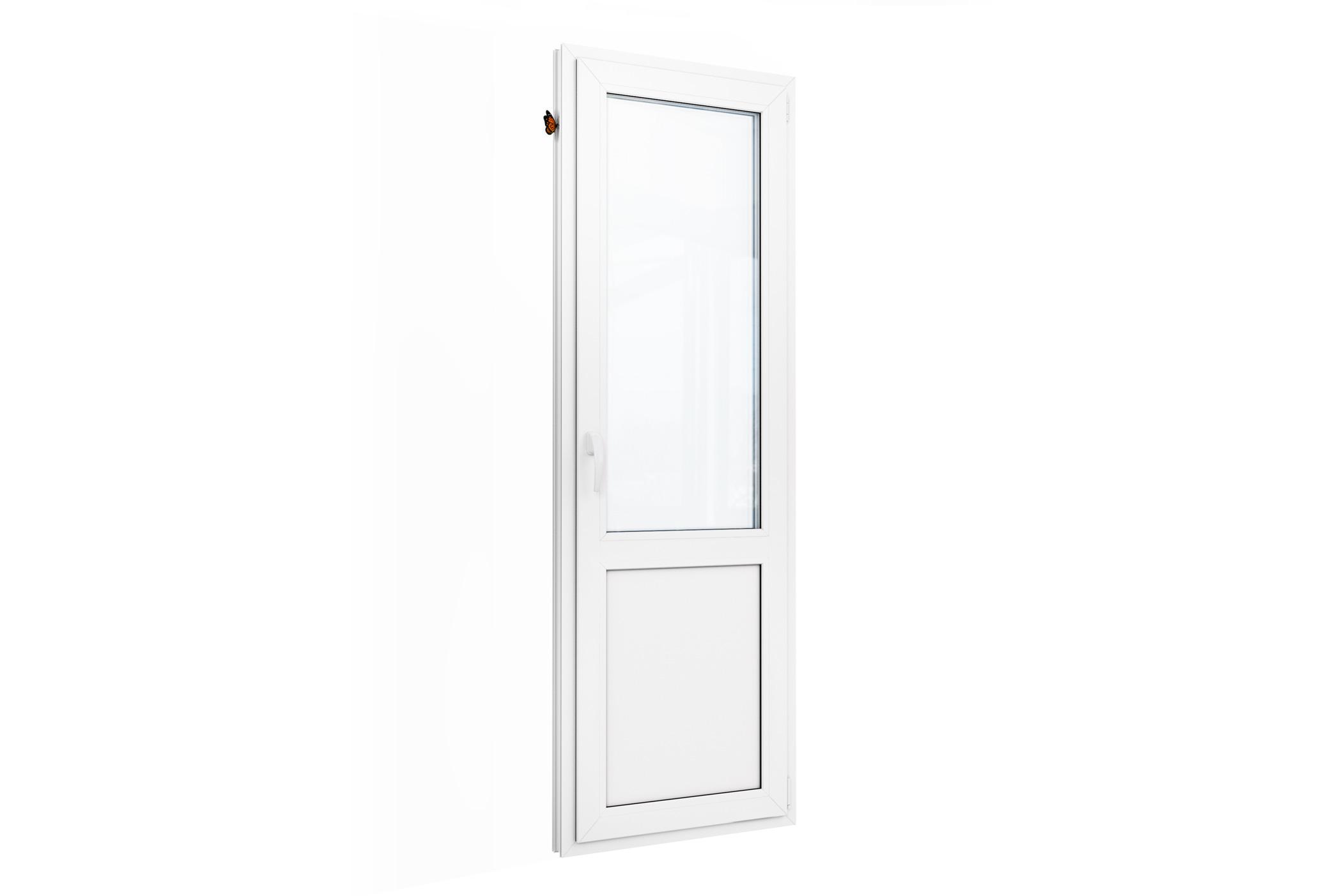 Пластиковая балконная дверь шонберг, размер: 2180-700.