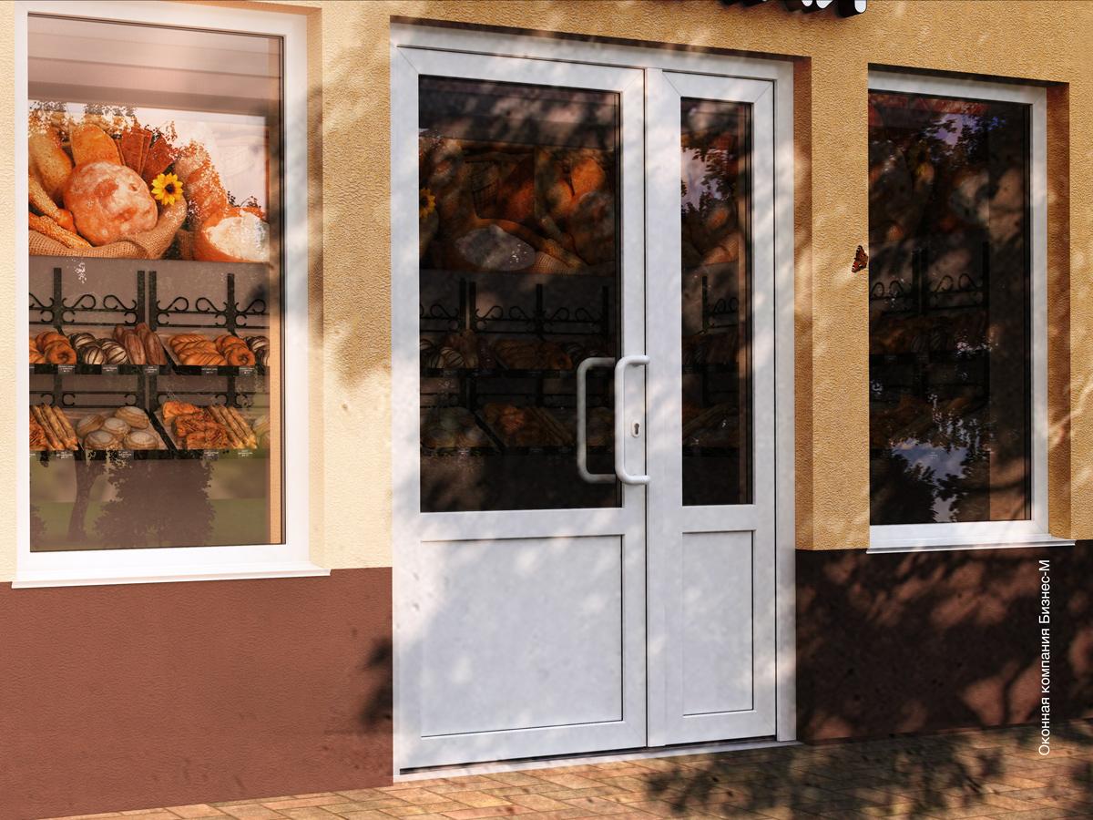входная теплая двустворчатая дверь